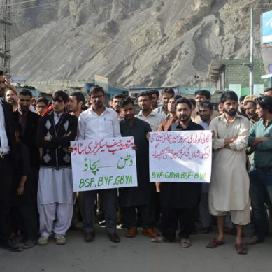 Protesters demand sacking of Chief Secretary Gilgit-Baltistan over controversial remarks