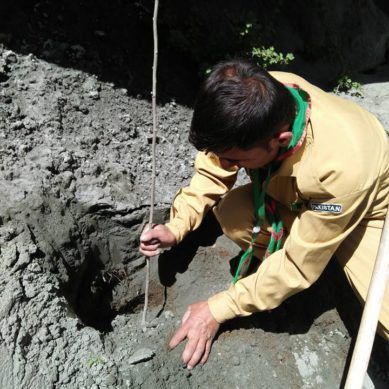 [Pictorial] Hope & Resilience: Scouts plant saplings on landslide debris in Ultar, Hunza