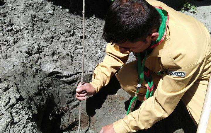 [Pictorial] Hope & Resilience: Scouts plant saplings on landslide debris in Ultar, Hunza