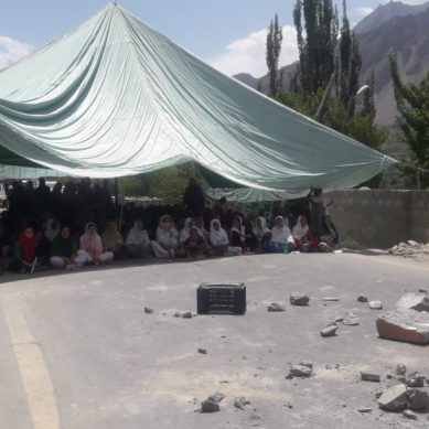 Protest demonstration in Hunza against district administration's condescending attitude
