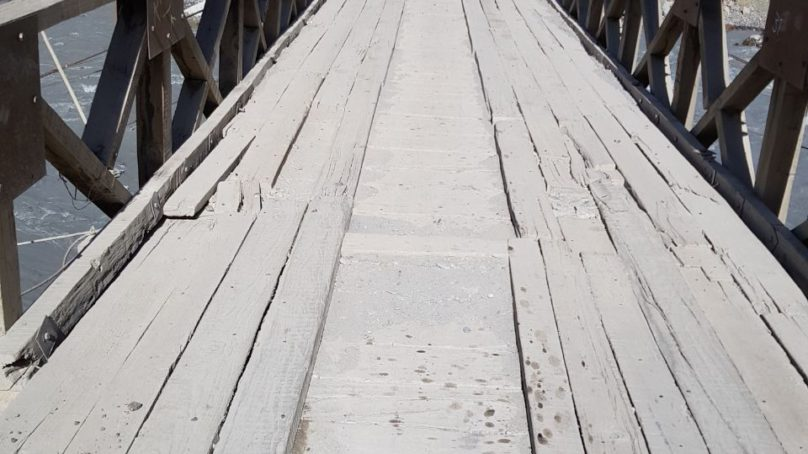 Plight of Muzgol Bridge in Chitral's Mulkhow Valley