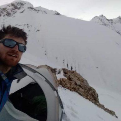 Belgian climber Neils Jespers reaches the summit of Nanga Parbat