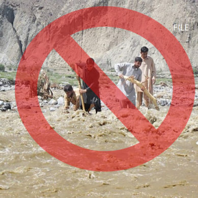 Ghizer administration imposes section 144 in areas around rivers, streams