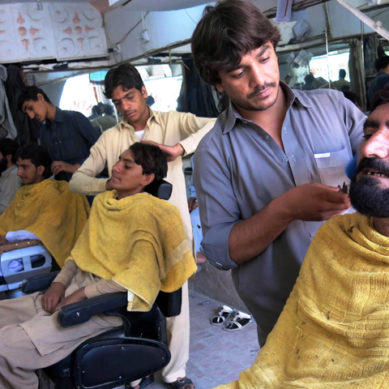 First ever Barber Shop inaugurated in Darel Valley, Diamer