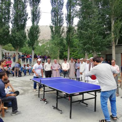 First All Hunza Table Tennis Tournament concluded in Ghulkin