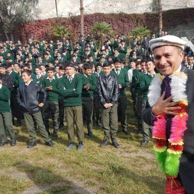 AKHSS Gilgit bids farewell to Principal Shams ul Haq Qamar